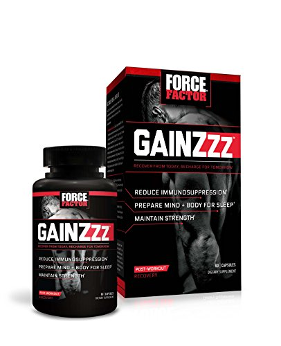 Force Factor GainZzz Post Workout Recovery Supplement Melatonin Count