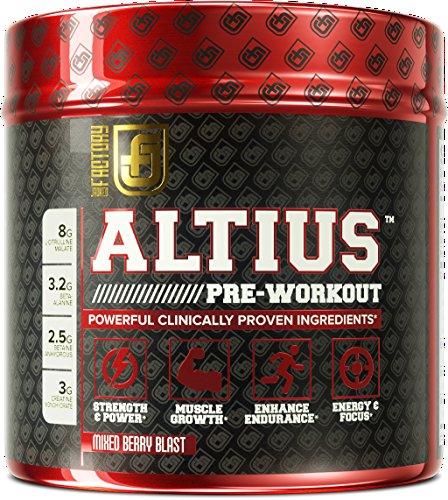 ALTIUS Pre Workout Supplement Formulation Performance