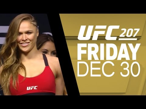 UFC 207: Nunes vs Rousey – Weigh-in Recap