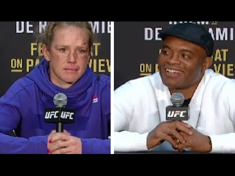 Frustrated Holly Holm & Anderson Silva UFC 208: Post-fight Presser highlight