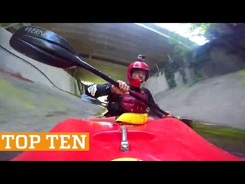 TOP TEN: Kayaking, Skimboarding & Trick Shots! | PEOPLE ARE AWESOME 2017