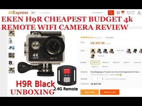 EKEN H9R H9 4K WiFi Action Sports camera 48$ CHEAPEST 4K REMOTE CAM 2016