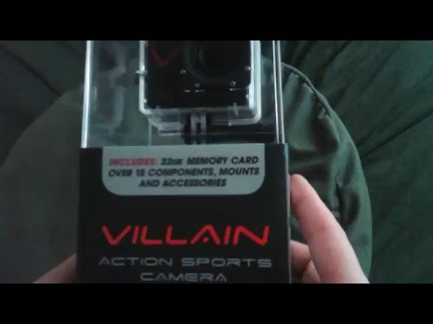 Unboxing of the Monster Digital Villain action sports camera.