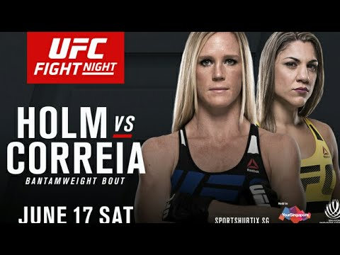 bethe correia vs holly Holmes Ultimate Fighting 17/06/2017 Bethe Correia, Holly Holm