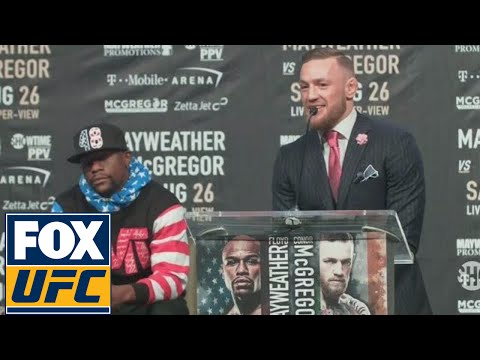 Conor McGregor rips Floyd Mayweather, says he'll beat Floyd inside 4 rounds | LA | UFC ON FOX