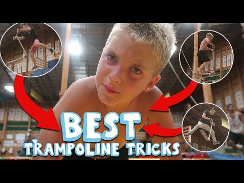 WORLD'S BEST TRAMPOLINE TRICKS (Extreme Sports Training Center Woodward East)