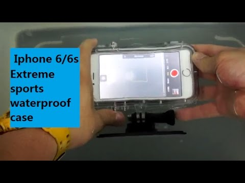 Iphone 6/6s Extreme sports waterproof case(with universal Go pro adapter) Unboxing & Review