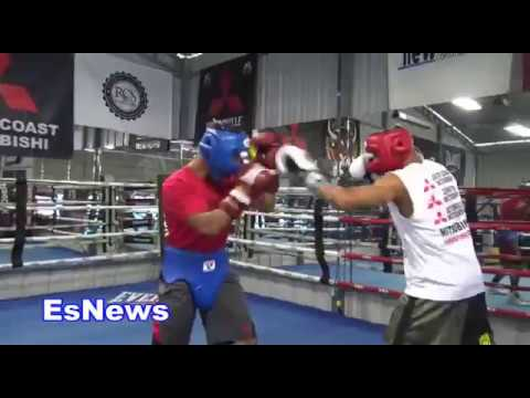 ((Heated Sparring!!!)) UFC Star Jose Aldo vs Mikey Garcia Both Letting Hands Go!  Session