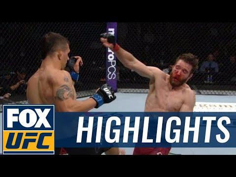 Alex White TKO's  Mitch Clarke in the second round | HIGHLIGHTS | UFC 215 PRELIMS