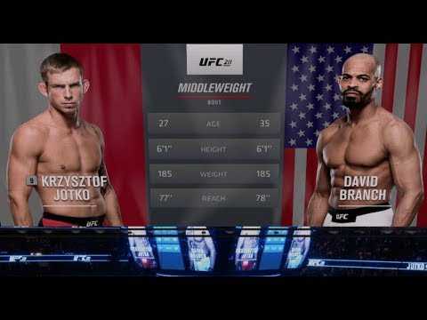 Fight Night Pittsburgh Free Fight: David Branch vs Krzysztof Jotko