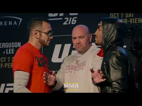 UFC 216: Tony Ferguson vs. Kevin Lee Media Day Staredown – MMA Fighting