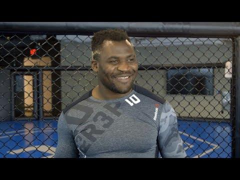 UFC 218: Francis Ngannou Open Workout Scrum