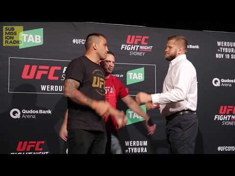 UFC Fight Night Sydney: Werdum vs.Tybura   Meda Day Staredowns