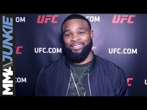 Tyron Woodley backstage interview at UFC Fight Night 124