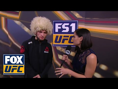 Khabib Nurmagomedov Talks with Megan Olivi | INTERVIEW | UFC 219