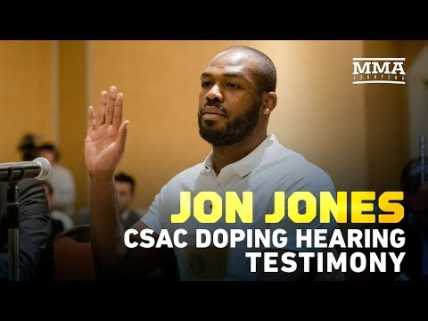 Jon Jones Defense Testimony at CSAC Doping Hearing – MMA Fighting