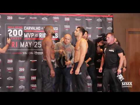 Bellator 200 Weigh-Ins: Rafael Carvalho vs. Gegard Mousasi Staredown – MMA Fighting