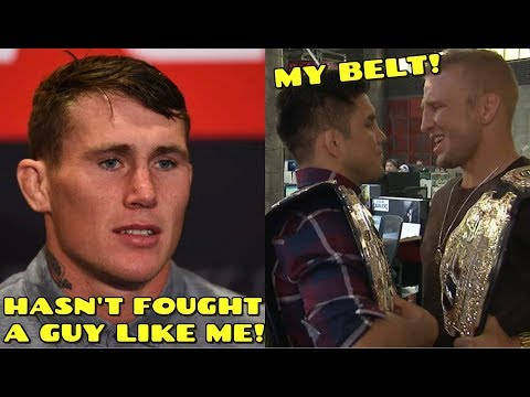 It's like a lightweight fighting a middleweight, TJ Dillashaw and Henry Cejudo TRASH eachother on tv