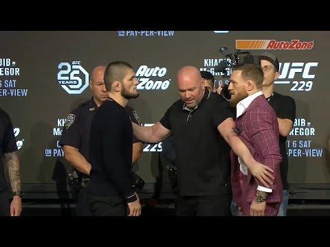 UFC 229: Khabib vs McGregor – Press Conference Faceoff