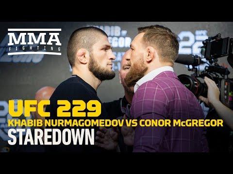 Khabib Nurmagomedov vs. Conor McGregor UFC 229 Staredown – MMA Fighting