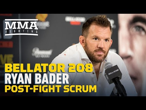 Bellator 208: Ryan Bader Post-Fight Press Conference – MMA Fighting