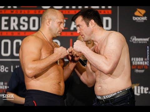 Fedor Emelianenko vs. Chael Sonnen Bellator 208 Weigh-In Staredown – MMA Fighting