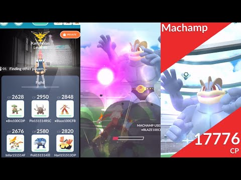 The battle of the ultimate fighters Pt 2! 6 unique, no Machamp Fighting vs Machamp solo in cloudy