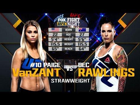 Fight Night Brooklyn Free Fight: Paige VanZant vs Bec Rawlings