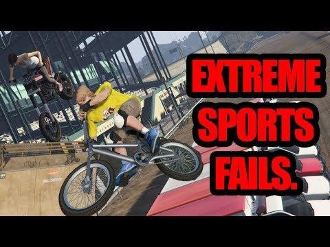 GTA 5 – EXTREME SPORTS FAILS – STUNTS FAILS #2