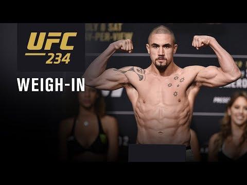 UFC 234: Weigh-in