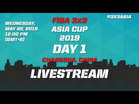 LIVE 🔴 – FIBA 3×3 Asia Cup 2019 – Day 1 – Changsha, China