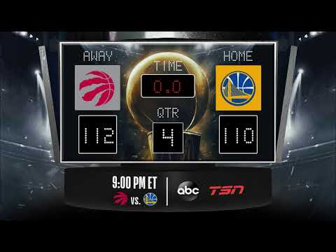 Raptors @ Warriors LIVE Scoreboard – Join the conversation and catch all the action on #NBAonABC!