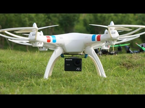 Syma X8C Quadcopter Outdoor flight with HD Action Sports Camera