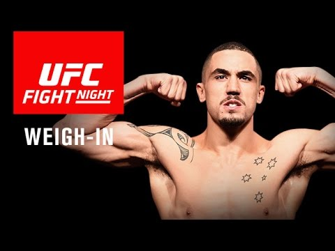 UFC Fight Night Melbourne: Official Weigh-in