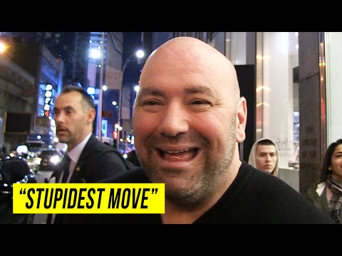 "Dana White goes at McGregor Again: Fighting Without UFC is ""Stupidest Move"""