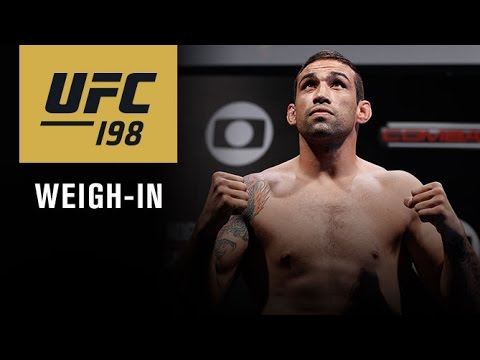 UFC 198: Official Weigh-in