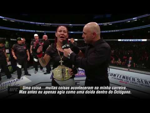 UFC 214: Confira a entrevista de Cris Cyborg no octógono
