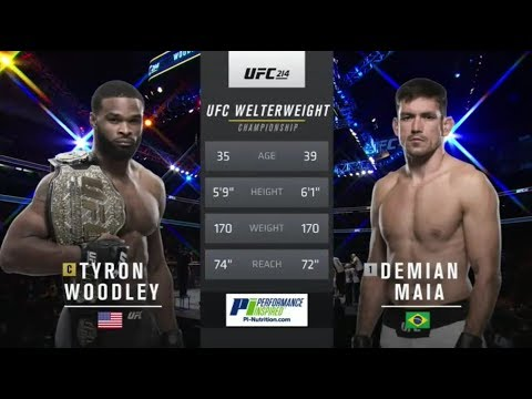 UFC 214 Tyron Woodley vs Demian Maia Full Fight Highlights