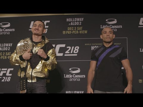 UFC 218: Holloway vs Aldo 2 – Media Day Faceoffs