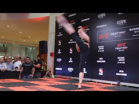Valentina Shevchenko Shows Off Striking Dance at UFC Belem Workouts – MMA Fighting