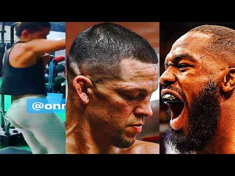 Nate Diaz say he's not fighting at UFC 230 and will return next year; Jon Jones reacts to DC/USADA