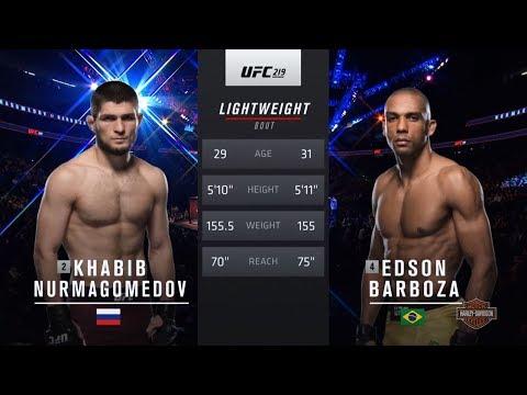 UFC 229 Free Fight: Khabib Nurmagomedov vs Edson Barboza
