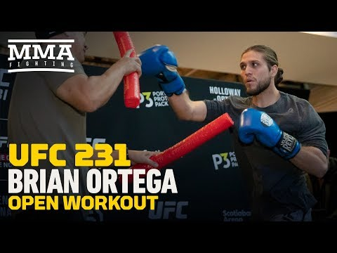 Brian Ortega UFC 231 Open Workout Highlights – MMA Fighting