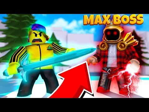 FIGHTING THE ULTIMATE BOSS WITH a VERY STRONG WEAPON (Roblox Slayer Simulator)