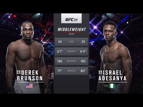 UFC 234 Free Fight: Israel Adesanya vs Derek Brunson