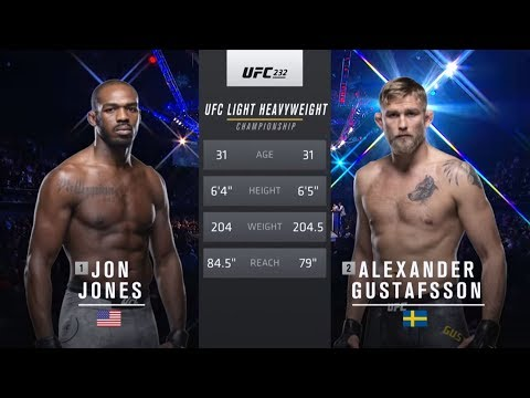 UFC 239 Free Fight: Jon Jones vs Alexander Gustafsson 2