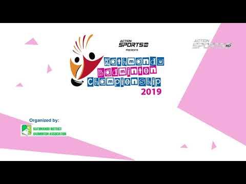""" Kathmandu Badminton Championship 2019 ""      Action Sports"