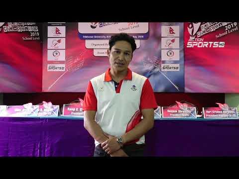 """ Kathmandu Badminton Championship 2019 ""    Deepak Shrestha    Action Sports"