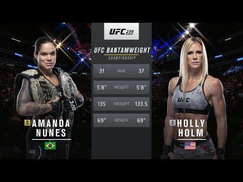 UFC 245 Free Fight: Amanda Nunes vs Holly Holm