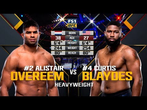 UFC Raleigh Free Fight: Curtis Blaydes vs Alistair Overeem